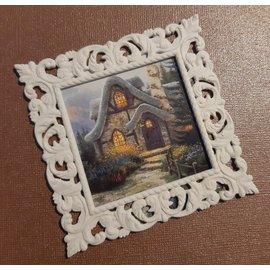 NY! 3D-utskrift dekorativ ramme 9,0 cm, 2mm tykk, laget av plast