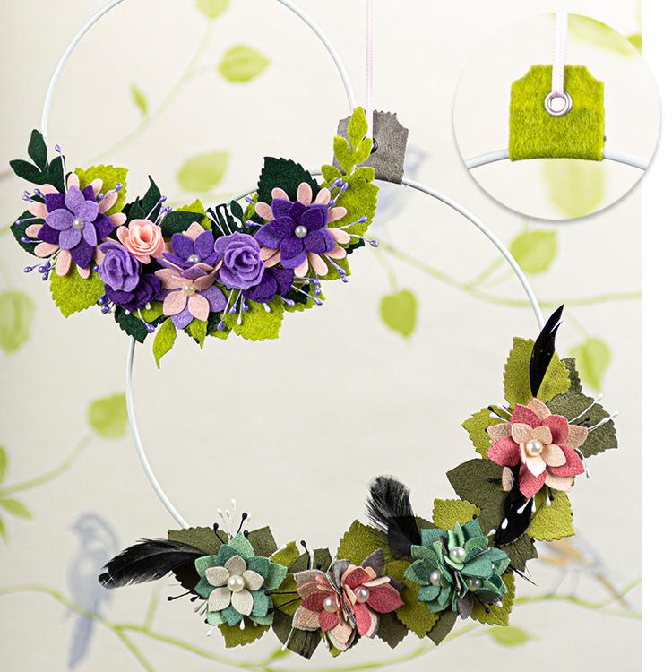 Ein Bunter Blumenkranz aus Papier, Moosgummi oder Filz!