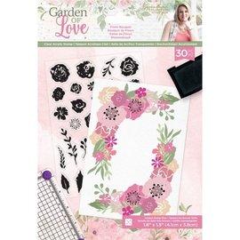 Crafter's Companion Crafter's Companion, d'estampes transparentes, bouquet floral Garden of Love