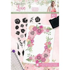 Crafter's Companion Crafter's Companion, Juego de sellos transparentes, Ramo floral Garden of Love