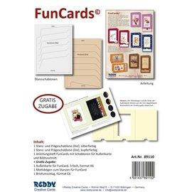Eksklusivt med os! Stanseskabelon SET + tilbehør til design af 10 FunCards!