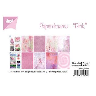 "A4 Papier SET Paperdreams ""Pink"" 10 BLatt davon 2 Bilderbogen 190gr!"