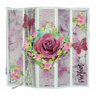 """A4 paper SET Paperdreams """"Pink"""" 10 sheets of which 2 picture sheets 190gr!"""