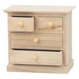 Holz, MDF, Pappe, Objekten zum Dekorieren 1 treskab, til dekoration og opbevaring af bånd, udsmykninger osv.
