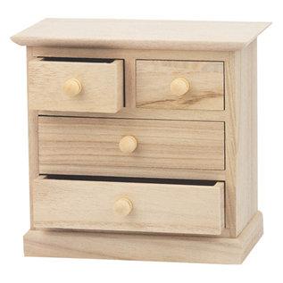 Holz, MDF, Pappe, Objekten zum Dekorieren 1 houten kast voor het versieren en opbergen van linten, versieringen etc.