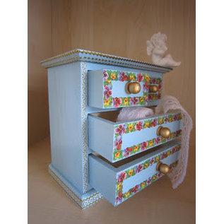 Holz, MDF, Pappe, Objekten zum Dekorieren 1 holzes Schränkel, zum Dekorieren und Aufbewahren von Bänder,  Embellishments usw..