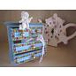 Holz, MDF, Pappe, Objekten zum Dekorieren 1 wooden cabinet, for decorating and storing ribbons, embellishments, etc.