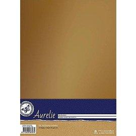 AURELIE 10 Blatt, Card Stock,  250gr., mit  luxuriösen Look mit weichem Glanz in gold