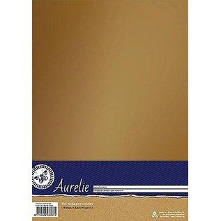 AURELIE 10 feuilles, papier cartonné, 250gr., Avec un aspect luxueux avec un éclat doux en or