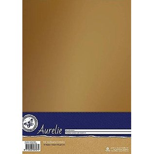 AURELIE 10 vellen, karton, 250gr., Met luxe uitstraling met zachte glans in goud