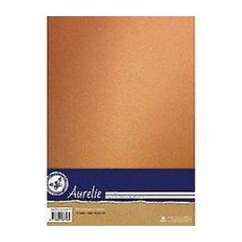 AURELIE 10 feuilles, papier cartonné, 250gr., Avec un look luxueux avec un éclat doux en or vintage, or nostalgique