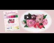 jolie conception de fleurs 3D avec caoutchouc mousse