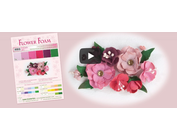 pretty 3D flowers design with foam rubber