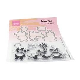 Marianne Design Elines dyr - Pandas, frimerker og stempelmaler pakkeformat: 150 x 210 mm