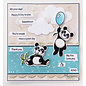 Marianne Design Eline's animals - Panda's, stamps and punching templates package format: 150 x 210 mm
