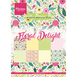 Marianne Design Designer pude, Floral Delight, A5, 4x8 designs