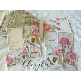 """Stamperia und Florella Karten- und Scrapbook Papierblock, """"Letters & Flowers""""  Stamperia"""