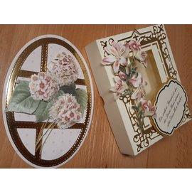 Bilder, 3D Bilder und ausgestanzte Teile usw... 3D Die feuilles découpées: Rosen