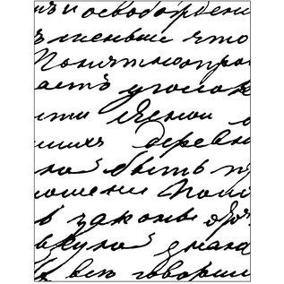 Prägefolder NIEUW! Embossing sjabloon, afm 11x14 cm, dikte: 2 mm, schrijven / script
