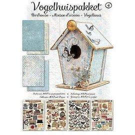 Studio Light Kit d'artisanat Vogelhaus complet avec MDF et papier