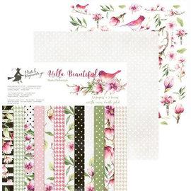 "Designer Papier Scrapbooking: 30,5 x 30,5 cm Papier NIEUW! Designerblok, ""Hello Beautiful"", 12 vellen + 2 bonus! 30,5 x 30,5 cm, 240 g / m2"