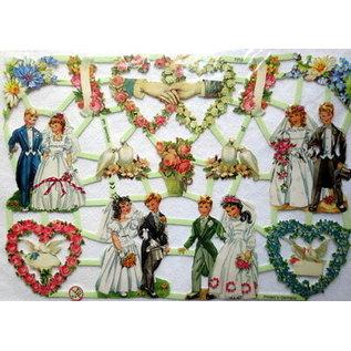 Bilder, 3D Bilder und ausgestanzte Teile usw... NIEUW kladjes, 14 foto's, veel, bruiloftsthema