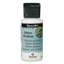 Rh Tekstilmaling, 29 ml flaske, glitter, tørrer krystalklar!