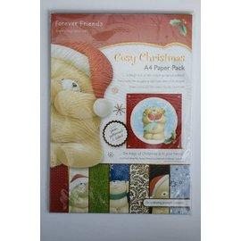 Docrafts / Papermania / Urban Forever Friends, Cozy Christmas, blocco di carta A4, 160 gsm, 30 fogli!