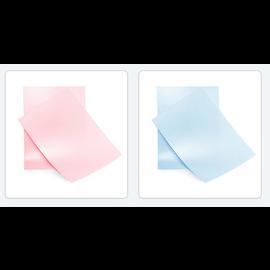 Elegant skinnende A4-papir Baby Pink