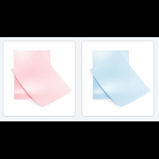 Elegante y brillante papel A4 rosa bebé