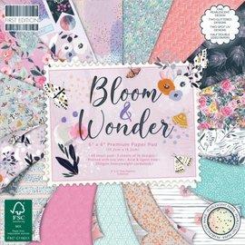 First Edition,  Papierblock 15 x 15 cm, 48 Blatt! Bloom and Wonder