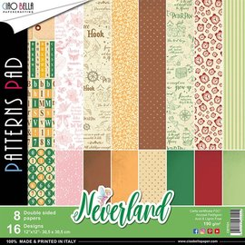 Karten und Scrapbooking Papier, Papier blöcke Designer block, Neverland 30.5 x 30.5 cm, 16 designs including cover sheet, (8 printed on both sides)