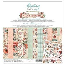 Mintay und Ciao Bella Designer pad, lettere d'amore, 30,5 x 30,5 cm