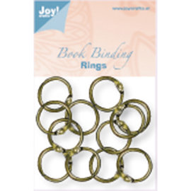 Joy!Crafts / Jeanine´s Art, Hobby Solutions Dies /  12 antique copper bookbinder rings, 20 mm