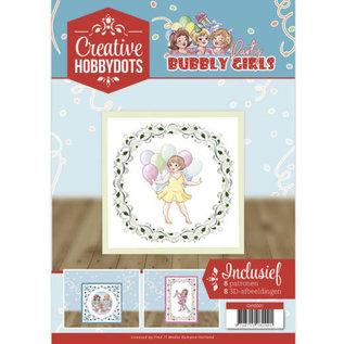 A4 SET Bubbly Girls, met 8 motieven voor hobbystippen en 8 3D motieven