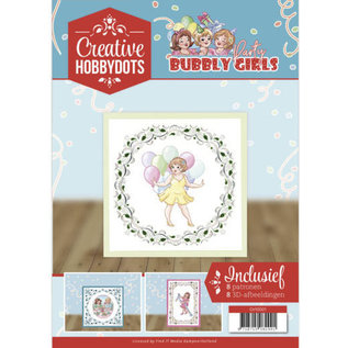 A4 SET Bubbly Girls, with 8 motifs for hobby dots and 8 3D motifs