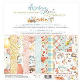 "Mintay und Ciao Bella Mintay, blocco design, ""Kiddie"" 30,5 x 30,5 cm, 240 grammi"