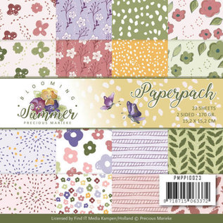 Precious Marieke Papieren blok, Precious Marieke, Blooming Summer