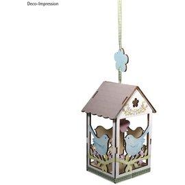 BASTELSETS / CRAFT KITS Wooden craft set bird wedding, 8.3x7.8x15.5cm, 19 pieces