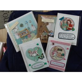 Yvonne Creations Yvonne Creations, Collection Bubbly Girls, 8 feuilles!
