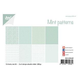 Joy!Crafts / Jeanine´s Art, Hobby Solutions Dies /  Joy Crafts, Papierset, Design  Mint Muster, A4