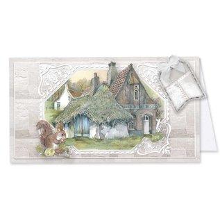 BASTELSETS / CRAFT KITS Ensemble d'artisanat fantastique, pour 12 cartes, maisons de campagne!