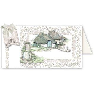 BASTELSETS / CRAFT KITS Fantastic craft set, for 12 cards, country houses!