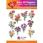 Bilder, 3D Bilder und ausgestanzte Teile usw... 10  Diverse 3D Blumen Motive, mit Glitter und in  220 gsm