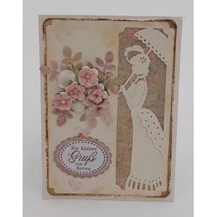 KARTEN und Zubehör / Cards 6 luxe kaarten, A6, in oude Victoriaanse stijl