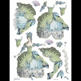 Stamperia, Rijstpapier, A3 Lady Green