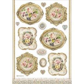 Stamperia, Rice Paper A4,  Frames