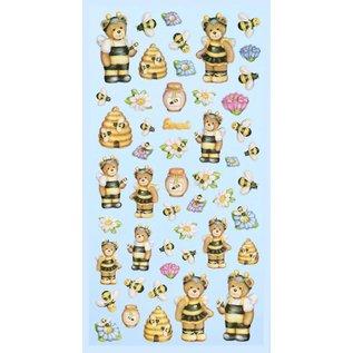 STICKER / AUTOCOLLANT Creapop SOFTY-Stickers Lustige Bienen