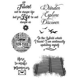 Stempel / Stamp: Transparent Timbre, transparent, dictons anglais: Sentiment