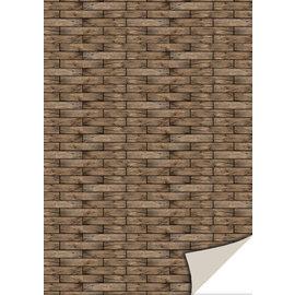 Cartes créatives Reddy, carton, osier, 250g / m², 24x34cm